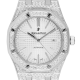 Audemars Piguet Royal Oak 41 Steel Watch Custom Diamond Set 15400ST.OO.1220ST.02