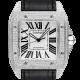 Cartier Santos 100 Large Diamond Set White Dial W20073X8