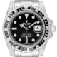 Rolex Submariner Date Diamond Set with Custom Black Bezel 116610LN