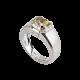 Platinum Ring with Yellow Diamond