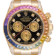 Rolex Daytona 18ct Yellow Gold Diamond Set with Custom Rainbow Bezel 116528