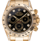 Rolex Daytona 18ct Yellow Gold Diamond Set Black/Diamonds Dial 116528