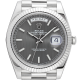 Rolex Day-Date 40mm White Gold Rhodium Stripe Motif Dial 228239