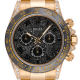 Rolex Daytona 18ct Yellow Gold Diamond Set with Black Custom Bezel and Dial 116528