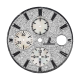Audemars Piguet 44mm Diamond Pave Mother of Pearl Subdials Custom Dial