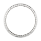 Rolex 36mm Steel Round Diamonds Custom Bezel