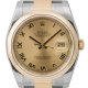 Rolex DateJust 36mm Yellow Gold and Steel Champagne/Roman 116203