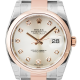Rolex DateJust 36mm Steel and Rose Gold Silver/Diamond Oyster 116201