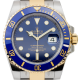 Rolex Submariner Stainless Steel and Yellow Gold Blue Dial 116613LB