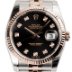 Rolex DateJust 36 Steel and Everose Gold Black/Diamonds Jubilee 116231