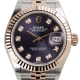 Rolex Lady-Datejust 28 Steel and Everose Gold Aubergine Dial Jubilee 279171