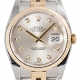 Rolex DateJust 36 Steel and Yellow Gold Silver/Diamonds Jubilee 116233