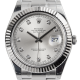 Rolex DateJust II Steel and White Gold SIlver/Diamonds Oyster 116334