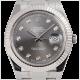 Rolex DateJust II Steel and White Gold Dark Rhodium/Diamonds Oyster 116334