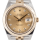 Rolex Datejust II 41 Steel and Yellow Gold Champagne/Diamonds Jubilee 126333