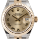 Rolex Lady-Datejust 28 Steel and Yellow Gold Champagne/Roman Jubilee 279173