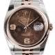 Rolex DateJust 36 Steel and Everose Gold Chocolate Dial Jubilee 116201