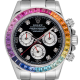 Rolex Cosmograph Daytona Stainless Steel With Custom Rainbow Bezel and Custom Dial 116520