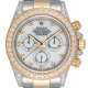 Rolex Cosmograph Daytona Steel/Yellow Gold Custom Diamond Set White MOP Dial 116523