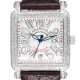 Franck Muller 10000 H SC Conquistador Diamond Set Brown Leather Strap