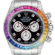 Rolex Cosmograph Daytona in Steel with Rainbow Diamond Bezel 116520