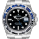 Rolex GMT-Master II Stainless Steel with Custom Black/Blue Bezel 116710BLNR
