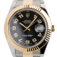 Rolex DateJust II 41mm Steel/Gold Black/Arabic Oyster 116333