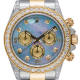 Rolex Cosmograph Daytona Steel/Yellow Gold Custom Diamond Set MOP Dial 116523