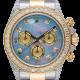 Rolex Cosmograph Daytona Steel/Yellow Gold Custom Diamond Set MOP Dial 116523