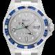 Rolex GMT-Master II Stainless Steel Diamond Set Blue Custom Bezel Diamond PavE Dial 116710LN