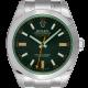 Rolex Milgauss Stainless Steel Black Dial Green Glass 116400GV