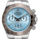 Rolex Daytona Stainless Steel custom Brown Ceramic Bezel Ice Blue/Diamonds 116520