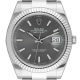 Rolex Datejust 41 Stainless Steel and White Gold Dark Rhodium/Index Oyster 126334