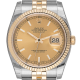 Rolex DateJust 36mm Stainless Steel & Yellow Gold Champagne/Index Dial 116233