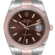 Rolex DateJust 41 Steel & Everose Gold Index Chocolate Dial Oyster 126301