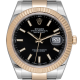 Rolex DateJust 41 Steel & Yellow Gold Index Black Dial Oyster 126333