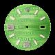 Rolex DateJust 36mm Green Print Diamond Numerals Custom Dial