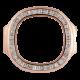 Custom Rose Gold Bezel Set with Diamonds for Patek Philippe 5712