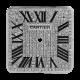 Cartier Santos 100 Midi Diamond Pavé/Black Roman Numerals Custom Dial