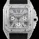 Cartier Santos 100 XL Chronograph Diamond Pavé Set W20090X8