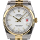 Rolex DateJust 36mm White/Index Jubilee 116233