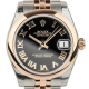 Rolex DateJust Lady 31mm Steel/Rose Gold Black/Roman 178241