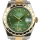 Rolex DateJust Lady 31mm Steel/Yellow Gold Green/Roman Oyster 178343