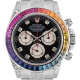 Rolex Cosmograph Daytona in Steel Diamond Set with Rainbow Diamond Bezel 116520