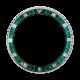 Rolex GMT-Master II Steel Diamond Emerald Precious Stone Custom Bezel