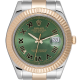 Rolex DateJust II 41mm watch in Steel/Gold with custom Olive Green dial 116333