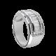 T4D Mens White Gold Ring