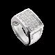 Time4Diamonds Mens White Gold Ring