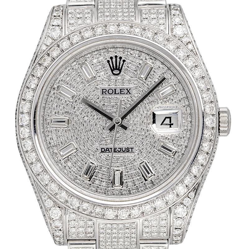 Custom Diamond Set Rolex Datejust 41 Stainless Steel 116300