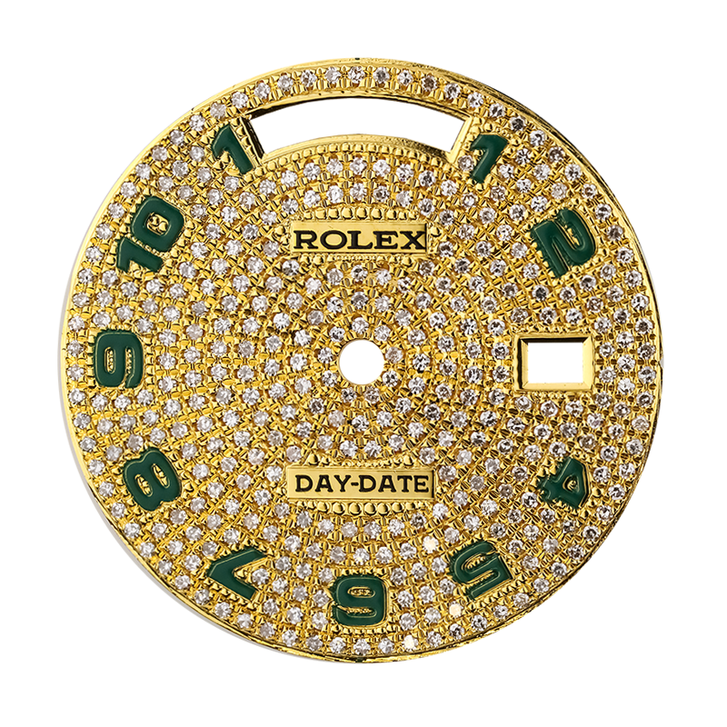 Rolex Day-Date 40 Gold Diamond Pavé Custom Dial